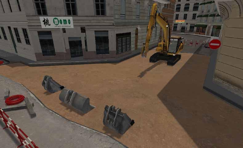 Learn to operate the excavator to cross over various slopes, embankments