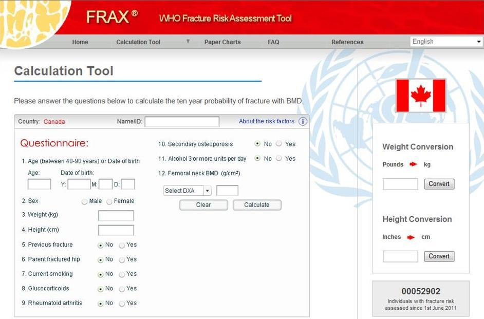 ca/multimedia/fracturerisktool/index.html#/home 2. FRAX tool available at: http://www.shef.ac.uk/frax/tool.