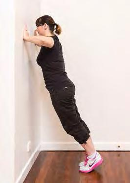 Wall push ups 2 Try completing the exercise with your hands on a bench