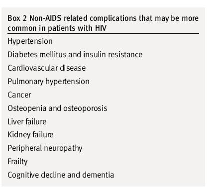 Age related Diseases Diagnosed in HIV + Individuals Older HIV + individuals are at even