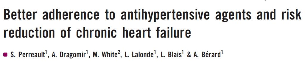 Cohort of 83,320 hypertensive patients Mean age 65, free of CVD, newly treated for HT (1999-2004)