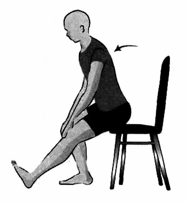 Equipments Required: Ruler, straight back or folding chair, (about 17 inches/44 cm high) Procedure: The subject sits on the edge of a chair (placed against a wall for safety).