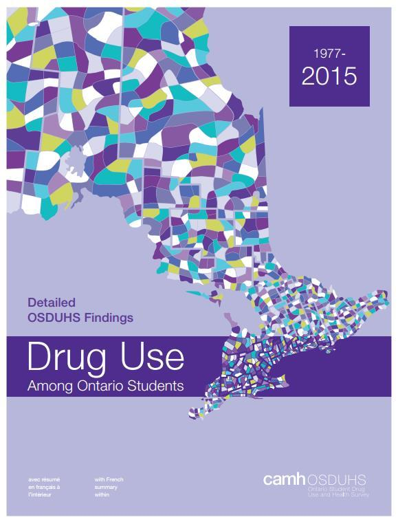 Cannabis Use The Numbers Youth Past year use, Ontario, 2015 21% of grades 7-12 22% of males and 20% of females Use increases with grade level Impaired
