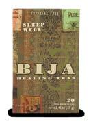 B I J A T e a a n d D i s t r i b u t e d L i n e s BIJA Holy Basil, Sleep Well and Green Tea Chai 20 bags