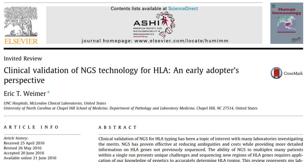 NGS can reduce the ambiguity rate, cost, and TAT for HLA typing.