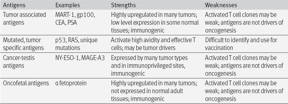 Cancer vaccination needs immunization with tumor antigens: non-mutated (TAA, cancer-testis,