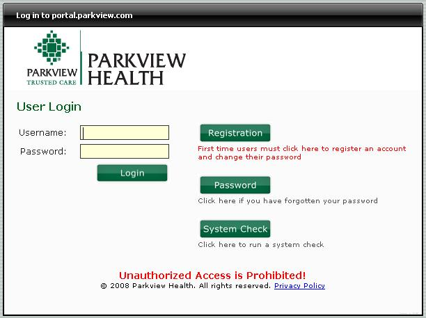 netlearning.parkview.com To access training: Once you have your student ID number, open your web browser (Internet Explorer, Google Chrome, Firefox, etc) and type netlearning.parkview.com in the address line.
