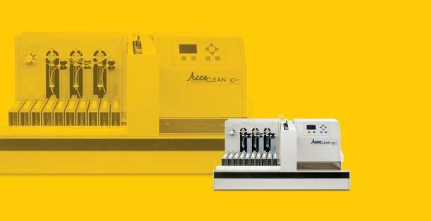 CATALYST FOR SUCCESS AUTOMATED SAMPLE CLEAN-UP AcceCLEAN THREE NEEDLE PARALLEL SAMPLE CLEAN-UP FOR IMMUNOAFFINITY COLUMNS The LCTech AcceCLEAN processes up to 30 samples in one batch, three samples