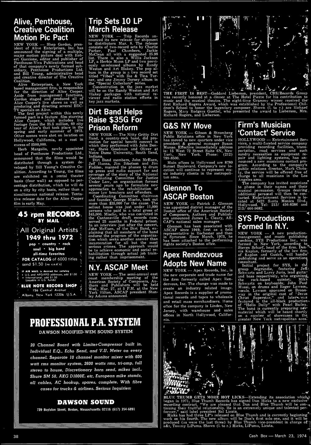 447 And T March 23 1974 Newspaper Pdf Cb Radio Microphone Wiring Diagram Http Wwwcbcintlcom Docs Aside From Management Functions Gordon Staged Produced All Of Alice Coopers Live Shows As