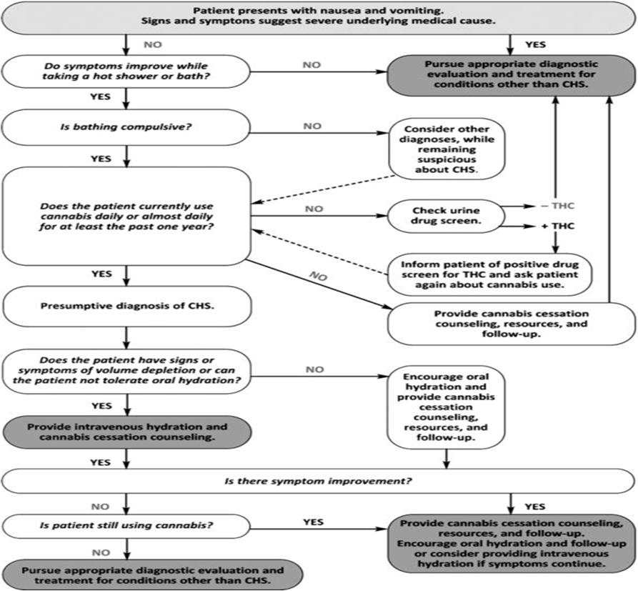 Cannabinoid Hyperemesis Syndrome: Literature Review and Proposed Diagnosis and Treatment Algorithm.