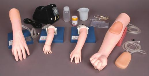 Arm II Hand Pediatric IV Hand Circulation pump Simulator Intravenous Arm II Set Part No: KKM50B A complete set of state-of-art IV simulators for blood collection, intravenous injection and drip