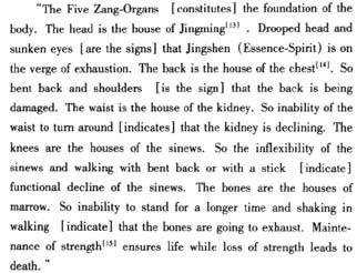 (jingming) spirit Back is the house of chest functions of the heart and the lung Knees are the house