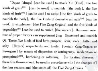 Treatment flavor for organs Principle: contradictive to its tendency tonify, follow its tendency reduce Liver tends to distribute: use pungent to smooth and distribute, use sour to reduce Heart tends