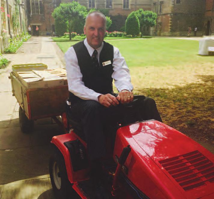 profile I Jesus College Annual Report 2017 45 a life in the day of our college butler stephen sayers came to jesus college after serving 22 years i in the royal air Force, which i enjoyed immensely.