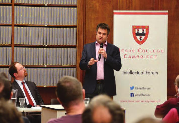 intellectual Forum I Jesus College Annual Report 2017 77 labour required, what will people do with any residual free time, and how do we develop an economic model that works in this new world?