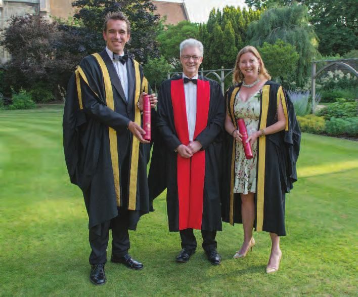 86 college news I Jesus College Annual Report 2017 Professor Peter Frankopan (1990) and Jessica Sainsbury (1989) at their admission as St Radegund Fellows this year we have only one staff move to