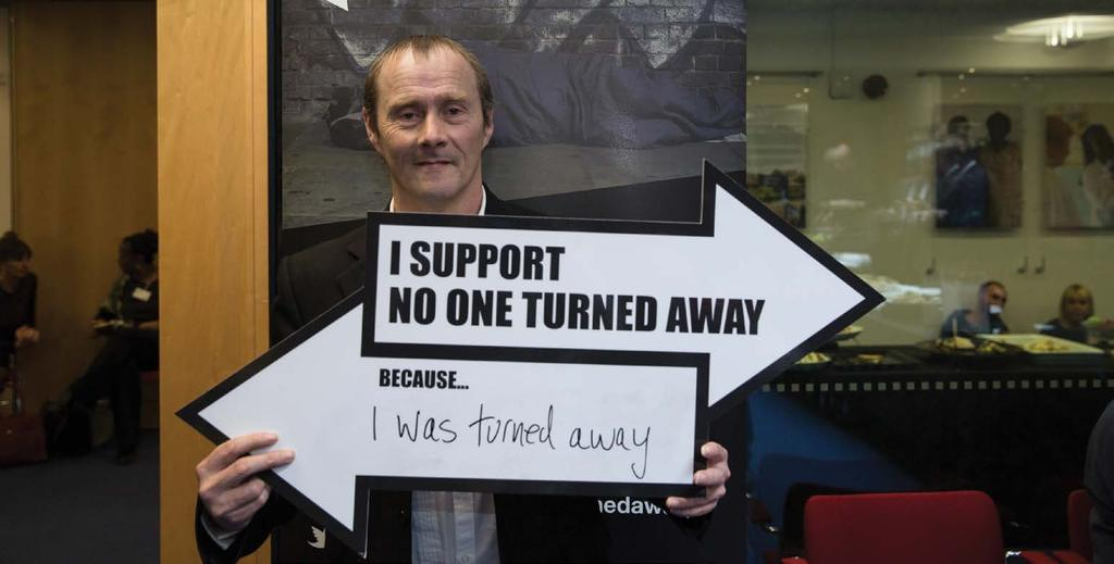 CAMPAIGNING Ending homelessness takes more than changing individual lives.