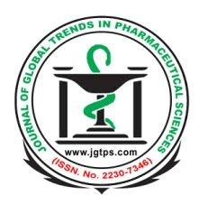 Available online at www.jgtps.com Research Article ISSN:2230-7346 Journal of Global Trends in Pharmaceutical Sciences Vol.