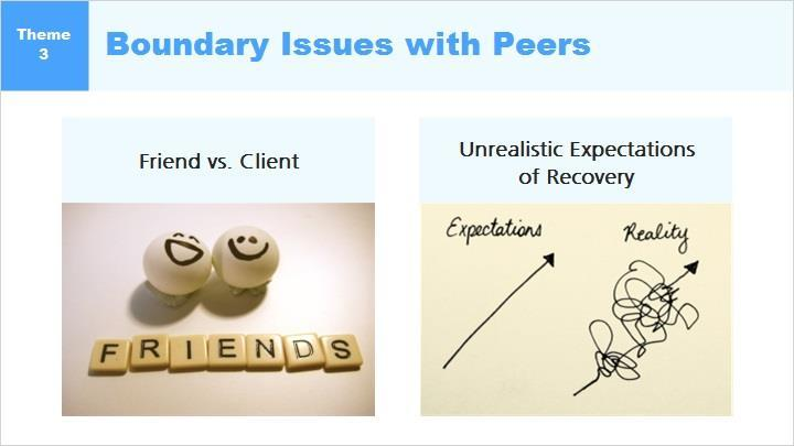 In this module, we ll discuss some of the Boundary Issues that are unique to Certified Peer Specialists as indicated by research in the field.