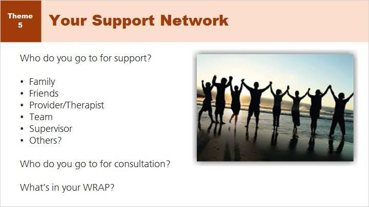 Support and Consultation. It is important to know who your support network is and have a firm understanding of where to go for consultation when working within the ED2 Recovery Program.