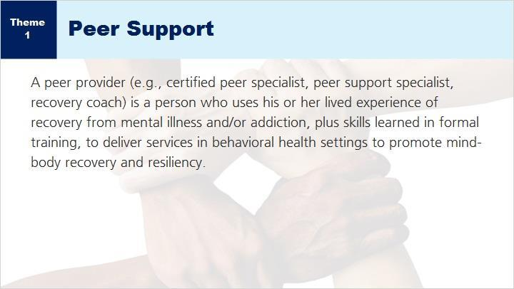 Peer Support has gained recognition as a valuable component for those overcoming mental health and substance use challenges.