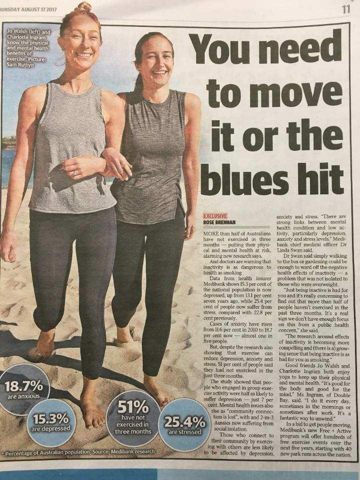 Physical (In)activity in Australia 50% of Austraslians have NOT exercised in the last 3 months 80% Canadians