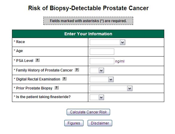 Elevated PSA 1 By PCPT risk calculator: Prostate cancer: 42% Biopsy Gleason 7-10: 8% though
