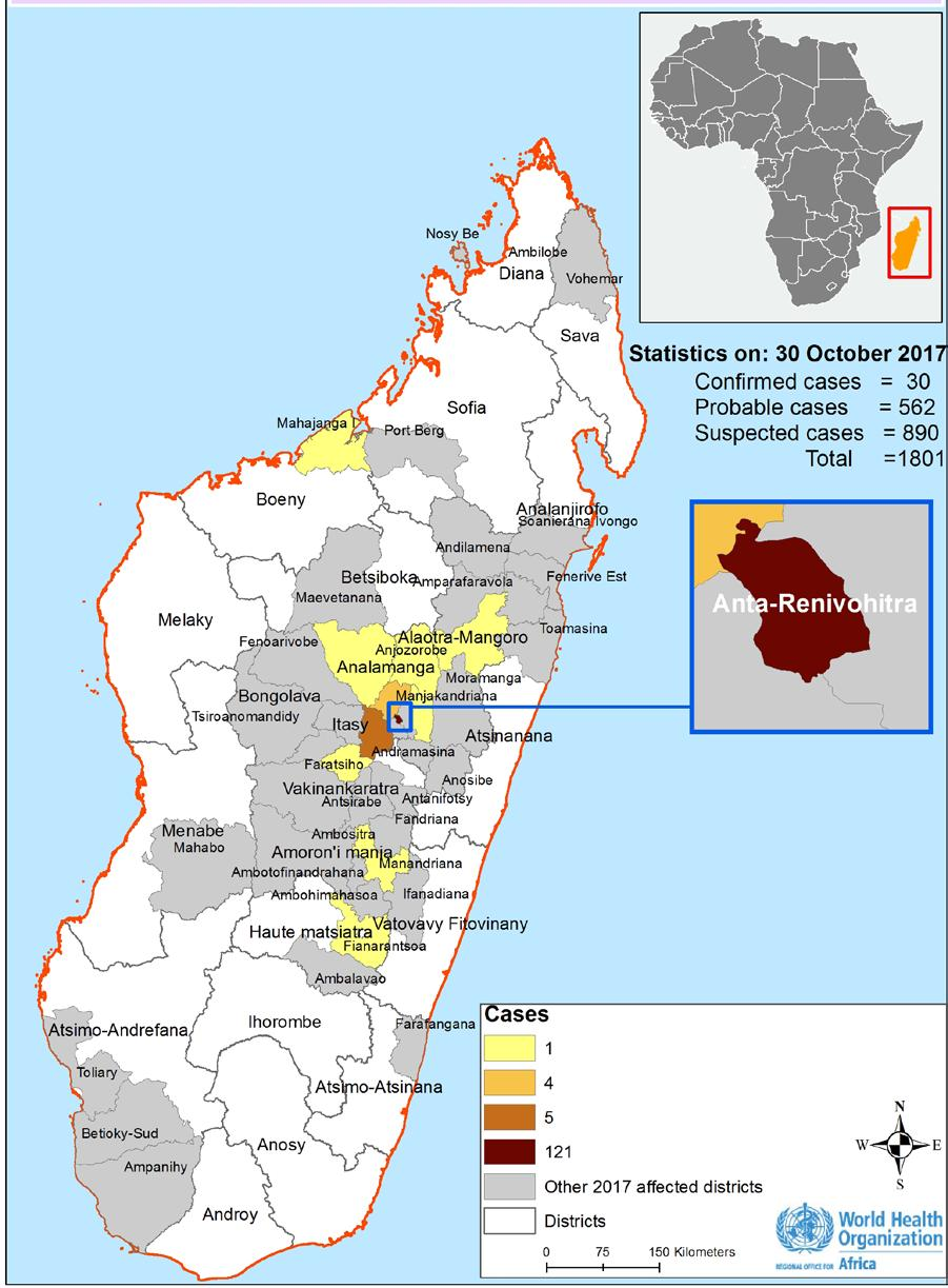Plague Madagascar 1 947 Cases 143 7% Deaths CFR EVENT DESCRIPTION WHO continues to support the Ministry of Public Health and other national authorities in Madagascar to monitor and respond to the