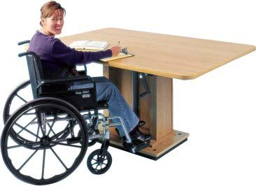 Can be used sitting, standing or wheelchair use.