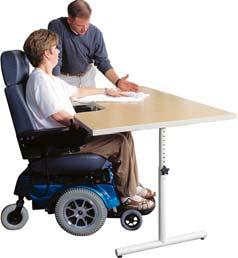 011951 Highly functional for hand therapy Therapy/Powder Board Table The steady T-leg provides no-hassle adjustment using an oversized knob to adjust the table in 1