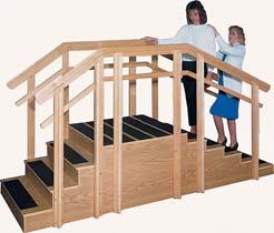 Handrail for 8 stair section is easily removable and locks into place. St