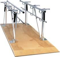 010225 10 26 28-41 Adjustable Height Single Operator Parallel Bars Every height adjustment necessary can be made from a single location.