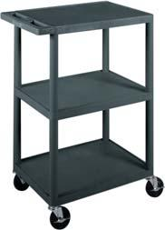 Therapeutic Modalities MODALITY CARTS Z-Cart Welded steel construction 16 x 20 shelf.