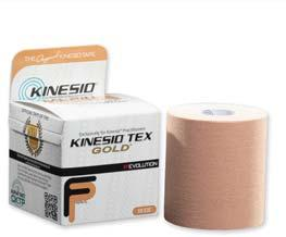 1 ; Black Kinesio Tex Gold Fp Brings Nano-touch stimulation to epidermis and layers beneath.