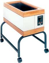 020090 Deluxe Paraffin Unit accommodates larger capacities, enabling more extensive treatment of arms, hands and feet.