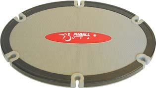 FitBALL Deluxe Board Extra-large 19.5 x 27 surface has plenty of room for wide-stance functional training with 6 slots around the edges for use with your tubing.