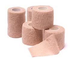 Roll; Tan; (18) Rolls/Case Pro Advantage Cohesive Wrap Provides non-slip support. Individually wrapped. Non-Sterile 090360 1 x 5 Yd. Roll; Tan; (30) Rolls/Case 090361 2 x 5 Yd.