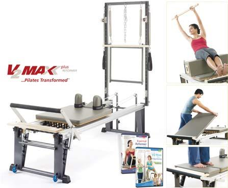 PILATES AND YOGA (CON T) V2 Max Plus Rehab Reformer - Bundle Facilitating limitless exercise possibilities, including V2 Max Plus programming.