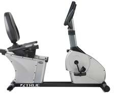 040720 72 32 47 LC900 Recumbent Bike by True Walk-through design True heart rate design that includes one touch HRC Cruise Control Adjustable reclining seat.
