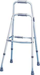 WALKERS Adult Hemi Walker/Sidestepper Extra hand grip provides ease in folding and wider base provides more stability than a quad cane. 14.75 to 17.