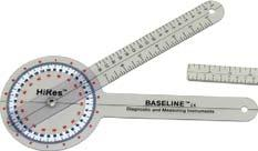 5 Finger Goniometer Baseline Stainless-Steel Goniometers The 360 degree goniometer features (1) 360 and (2) 180 degree scales that read in opposite