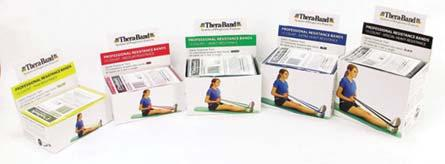 Clinical Supplies 042506 EXERCISE BANDS (CON T) Thera-Band Starter Dispenser Packs 15 individually wrapped 5-foot latex bands each band includes a exercise guide packaged for resale APTA endorsed