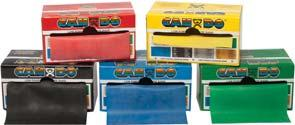 (30) Packages/Dispenser 045160 Yellow; Thin 045161 Red; Medium 045162 Green: Heavy 045163 Blue; Extra Heavy 045164 Black; Special Heavy 020111 Color-coded dispenser boxes take the guesswork out of