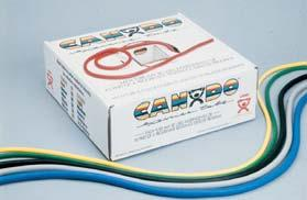 020725 Thera-Band Tubing with Handles are available in 6 resistance levels.