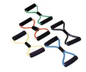 Clinical Supplies EXERCISE TUBING (CON T) Cando Tubing Exerciser With Handles 36 020453 Tan; XX-Light 020454 Yellow; X-Light 020455 Red; Light 020456 Green; Medium 020457 Blue; Heavy 020458 Black;