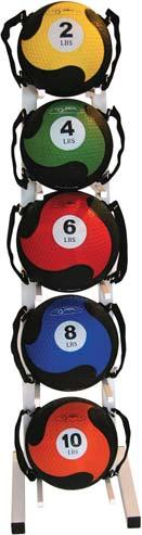 9 /23cm Black 023165 5-Pieces (6, 12, 18, 24, 30 lb.) 023160 FitBALL MedBalls W/Straps Large traditional medicine balls with an added twist: Two adjustable strap on each ball.