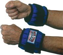 Adjustable Wrist Weights Contour-Foam wrap around cushioned comfort padding against wrist. Designed to permit full wrist flexion and extension and full radial and ulnar deviation. 027022 2 lb.