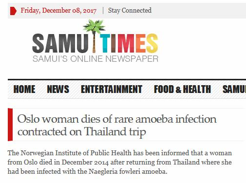 Case reports in Thailand PAM- 12 cases, First case report- B.E.