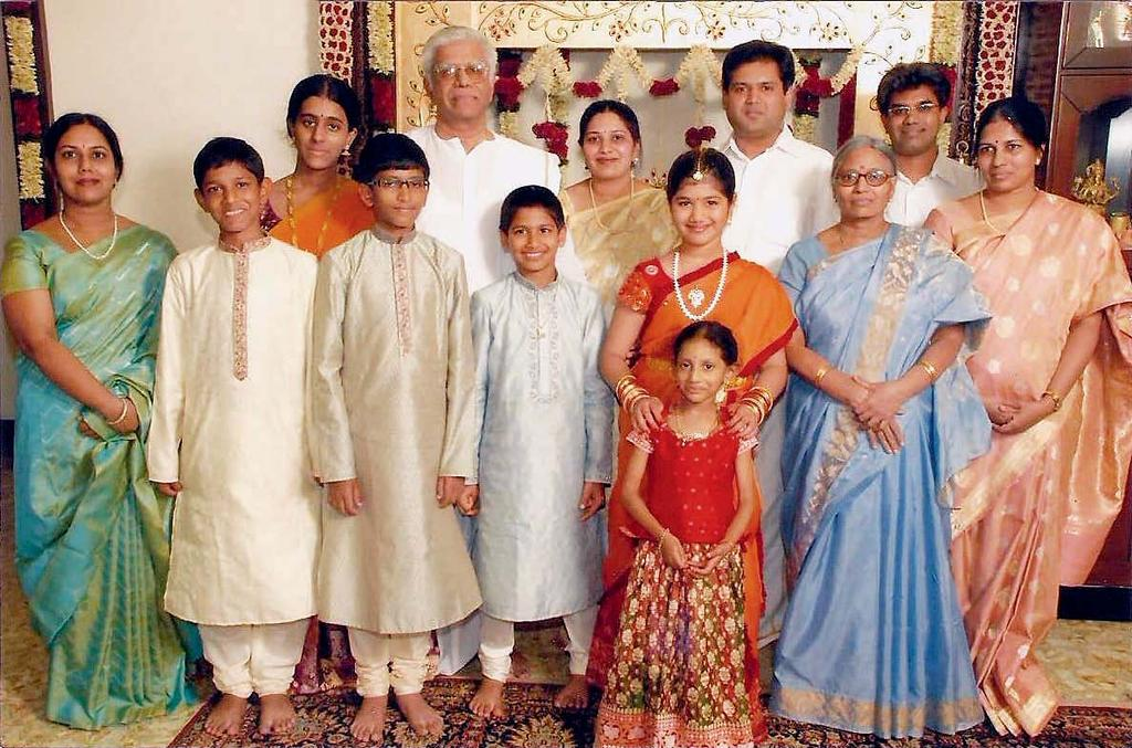 Mr V C Janardan Rao with his family Committed to a New Beginning Mr V C Janardan Rao s interest in eye care began many, many years ago, when he noticed his daughter, who was around 5 years old at