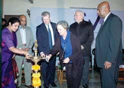 The Year in Review Dr Savitri Sharma Among other eminent guests who spoke warmly and evocatively were Prof Allen Foster, President of CBM (Christoffel Blindenmission) and Co-director of the